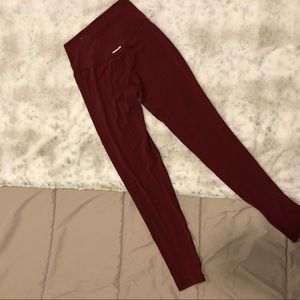 Maroon Aerie Leggings